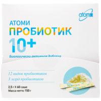 Атоми Пробиотик 10+ 150 гр (2.5 гр х 60 саше) / 2 мес[프로바이오틱스]