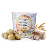 Вегетарианская лапша из картофельной муки в стакане  73 гр х 18 шт[우리밀 감자라면 컵]